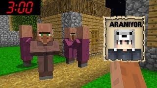 GECE 3:00'DA KÖYLÜLER BENİ ARIYOR! *kaçırıldım* 😱 - Minecraft