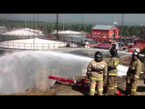 Пожар в нефтехранилище под Ангарском потушен