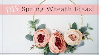 DIY SPRING FLORAL WREATH  | Easy Wreath Ideas 2018 | Lynette Yoder