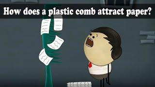 How does a plastic comb attract paper? | #aumsum #kids #science #education #children