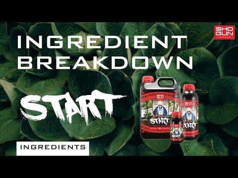 Ingredients Breakdown SHOGUN Start - A Young Plant Nutrient
