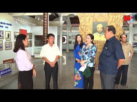 Bí thư Tỉnh ủy Võ Thị Ánh Xuân khảo sát công trình trùng tu khu lưu niệm Chủ tịch Tôn Đức Thắng