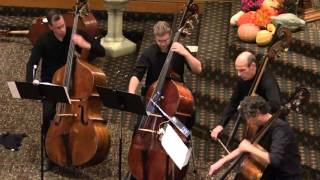 Members of The Cleveland Orchestra Bass Section perform Kobolds for Four Basses