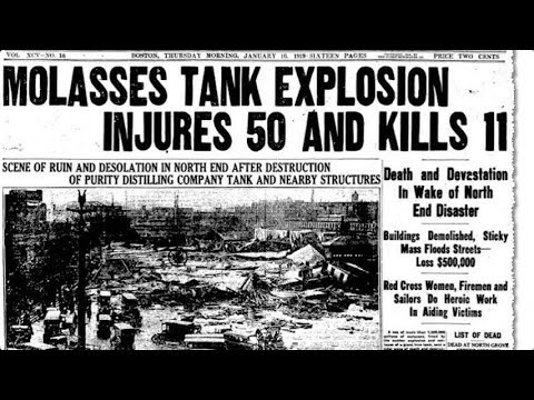 A century ago a tank containing 2.3 million gallons of molasses ruptured, sending out a massive wave that flattened Boston's North End neighborhood in what became known as the Great Molasses Flood of 1919. (Jan. 14)