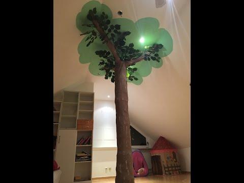 DIY Baum mitten im Kinderzimmer