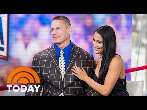 John Cena And Nikki Bella On Their Wedding Plans Following Wrestlemania Engagement | TODAY