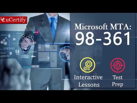 Microsoft 98-361 - MTA: Software Development Fundamentals ...