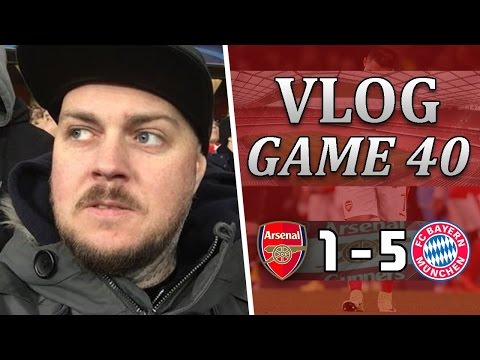 Arsenal 1 v 5 Bayern Munich | This Club Is A F***ING Shambles | Matchday Vlog | Game 40