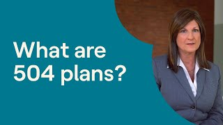 What Is a 504 Plan for Students?