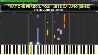 THAT ONE PERSON (Jessica SNSD) + DIVINE (SNSD) - Piano Vers.