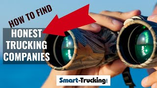 HOW TO FIND THE BEST TRUCKING COMPANIES TO WORK FOR (YES, THEY ARE OUT THERE!)