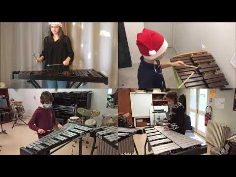 Vidéo - Carol of the Bells - par la classe de Percussions