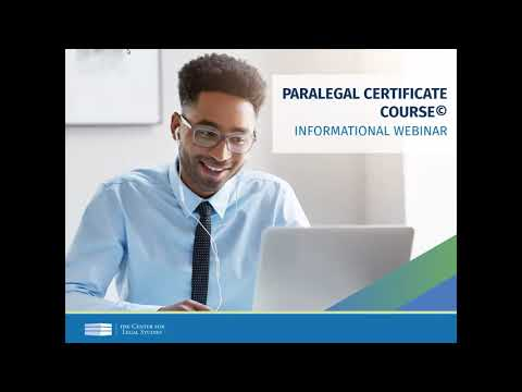 Paralegal Certificate Course© Webinar (February 2021) | The Center for Legal Studies