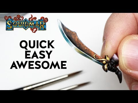 Paint Weapons QUICK - EASY - AWESOME! ⚔️⛏️⚔️  Warhammer & DnD miniatures NMM painting tutorial
