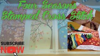 Four Seasons - Stamped Cross Stitch - DIY Crafts