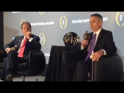 CFB Playoff Head Coaches Saban,Meyer,Peterson,Swinney Press Conference Opener