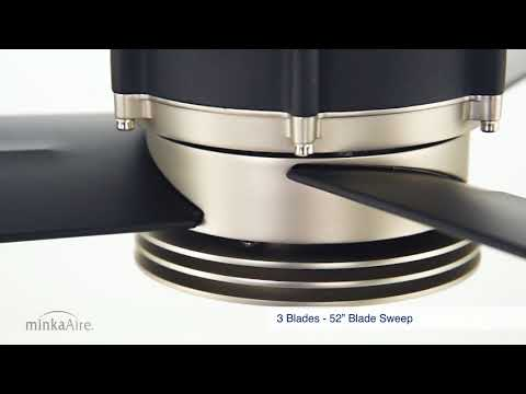 Video for Gear Brushed Steel and Sand Black LED Ceiling Fan