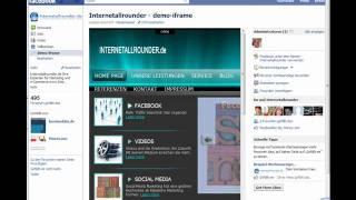 Hompage in Facebook iFrame einbinden Teil 1 ( Super Einfach)