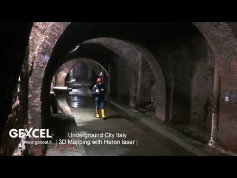 Interesting 3D real time underground mapping of the misterious Aposa Underground River in Bologna (Italy).