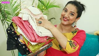 Wedding/Festive Outfits Try on Haul from Aurelia   कुर्ती सूट्स Maxi ड्रैसेस   Perkymegs Hindi