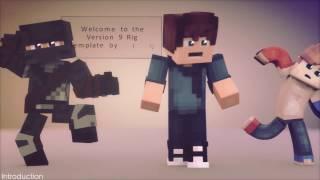 Anishwij Minecraft Rig Template Version 9.1 FREE DOWNLOAD