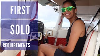 First solo flight student pilot | requirements