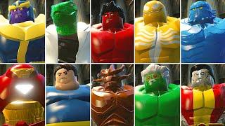 All Big Fig Bosses Hulk Smash In LEGO Marvel Super Heroes Cutscenes