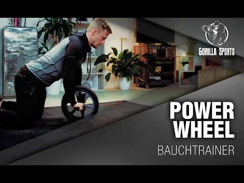 Gorilla Sports Power Wheel Bauchtrainer