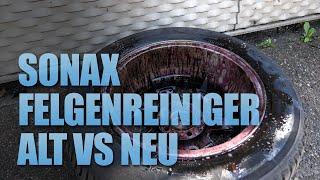 Sonax Felgenreiniger Plus alte und neue Formel im Vergleich | 83metoo