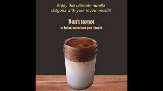 Dalgona Coffee Recipe | How to make Nutella Dalgona? | LockDown | #QuickCre