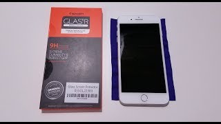 Spigen Tempered Glass for the iPhone 8 Plus with Cases in 4k!!