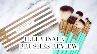 Illuminate Brushes Review | bh cosmetics