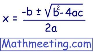 Solve Quadratic Equations using Quadratic Formula