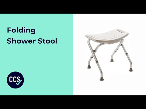 Folding Shower Stool Folds For Easy Storage