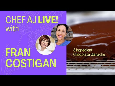 Easy Chocolate Ganache 3 Ingredients | Vegan Baking with Fran ...