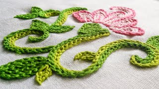 Hand Embroidery Flowers | How To Braided Chain Stitch | HandiWorks #8