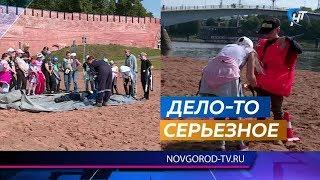 Новгородские спасатели показали детям значение безопасного отдыах на воде