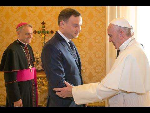 Prezydent Andrzej Duda na audiencji u papieża Franciszka