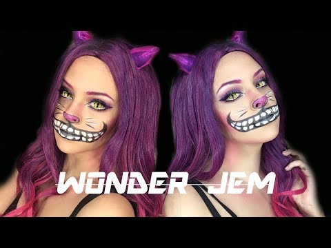 CHESHIRE CAT / THE WONDER JEM) / TUTORIAL MAKEUP Y OREJAS