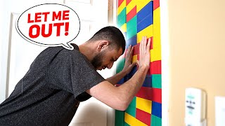 I Trapped My Brother With a GIANT LEGO WALL...