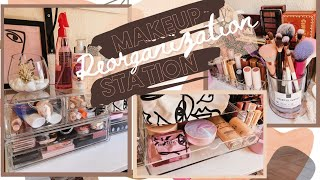 My Makeup Station Reorganization