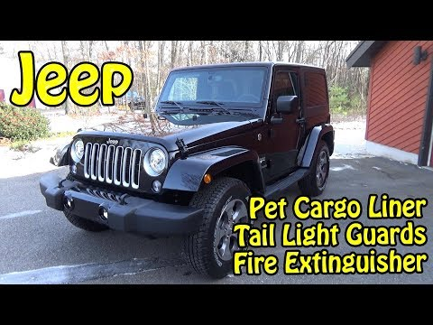 Jeep Wrangler Tail Light Guard / Fire Extinguisher / Pet Cargo Liner