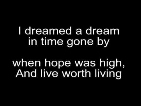 Susan boyle-I Dreamed a Dream Lyrics