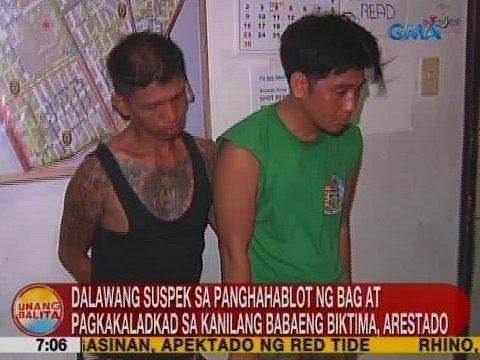 UB: 2 suspek sa panghahablot ng bag at pagkakaladkad sa kanilang babaeng biktima, arestado
