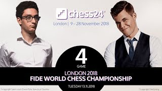 Carlsen-Caruana Game 4 - 2018 FIDE World Chess Championship
