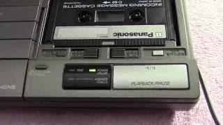 1989 Panasonic Easa-Phone Answering Machine.