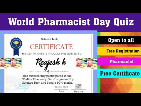 Pharmacy Quiz Competition with Certificate l ONLINE CERTIFICATE ...