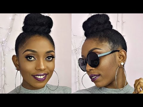 How To High Bun Top Knot Tutorial On Short 4C Natural Hair(Four Unique Styles)