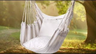 Y  STOP Hammock Chair Hanging Rope Swing Review, Super Unique For A Library For Reading