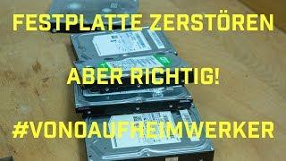 Festplatten zerstören - aber richtig! Defekte Festplatten richtig löschen!